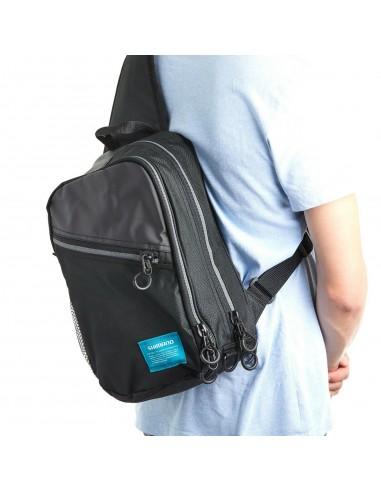 Sling Shoulder Bag Black M 10 x 22 x 37 cm