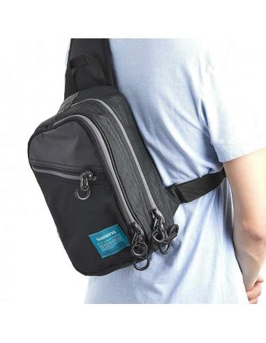 Sling Shoulder Bag Black S 10 x 17 x 31 cm